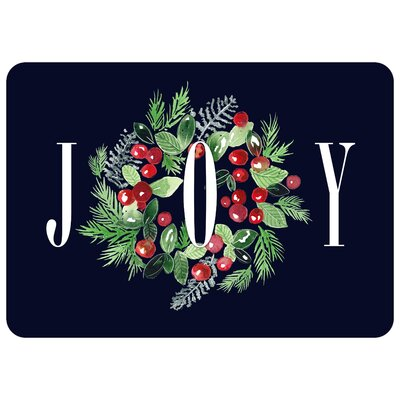Joy Wreath Kitchen Mat