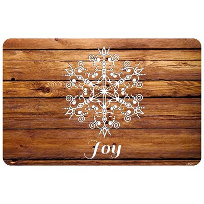 Snowflake Joy Kitchen Mat