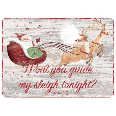 Guide My Sleigh Kitchen Mat