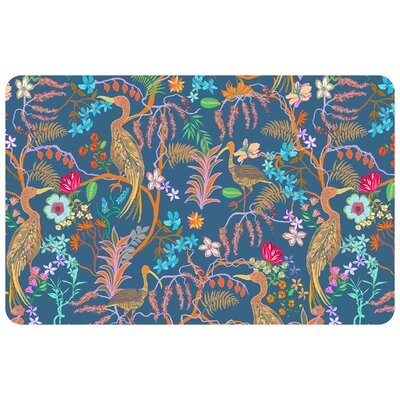 Shuntae Exotic Flowers and Birds Kitchen Mat