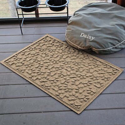Conway Scattered Dog Paws Doormat Color: Camel