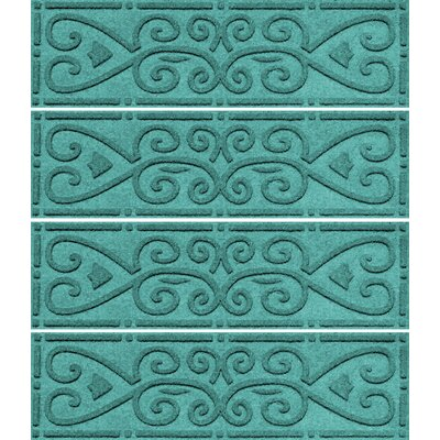 Michiel Scroll Stair Tread Color: Aquamarine