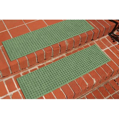 Amald Squares Stair Tread Color: Light Green