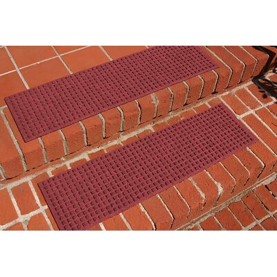 Amald Squares Stair Tread Color: Red/Black