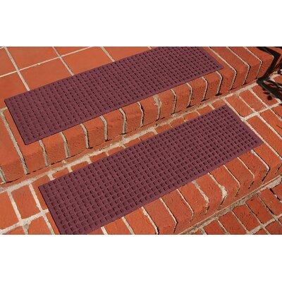 Amald Squares Stair Tread Color: Bordeaux