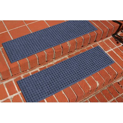 Amald Squares Stair Tread Color: Navy