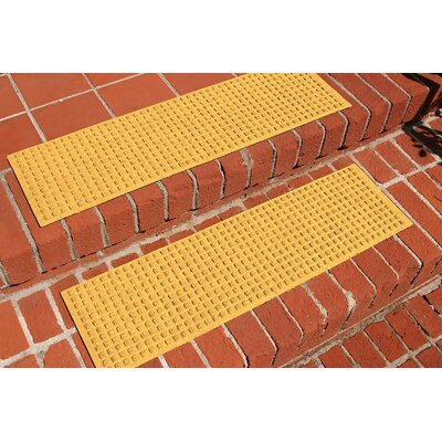 Amald Squares Stair Tread Color: Yellow