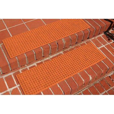 Amald Squares Stair Tread Color: Orange