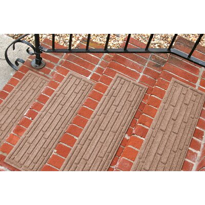 Amald Broken Brick Stair Tread Color: Medium Brown