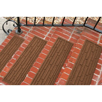 Amald Broken Brick Stair Tread Color: Dark Brown