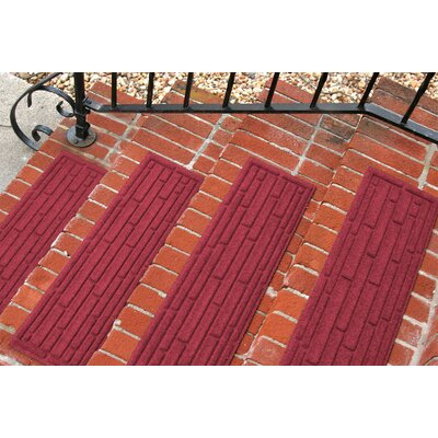 Amald Broken Brick Stair Tread Color: Red/Black