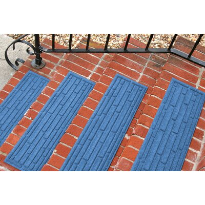 Amald Broken Brick Stair Tread Color: Medium Blue