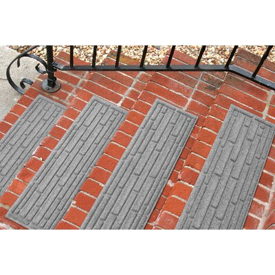 Amald Broken Brick Stair Tread Color: Medium Gray