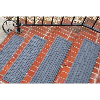 Amald Broken Brick Stair Tread Color: Bluestone
