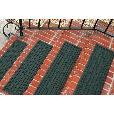Amald Broken Brick Stair Tread Color: Evergreen