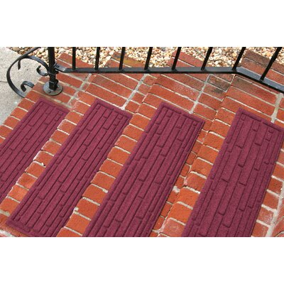 Amald Broken Brick Stair Tread Color: Bordeaux