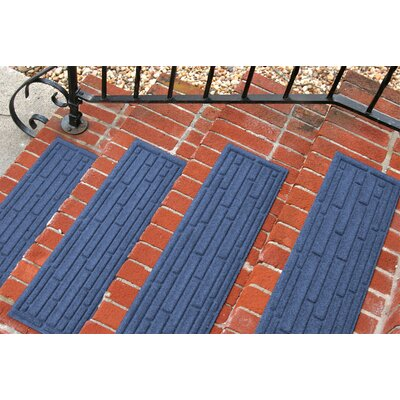 Amald Broken Brick Stair Tread Color: Navy