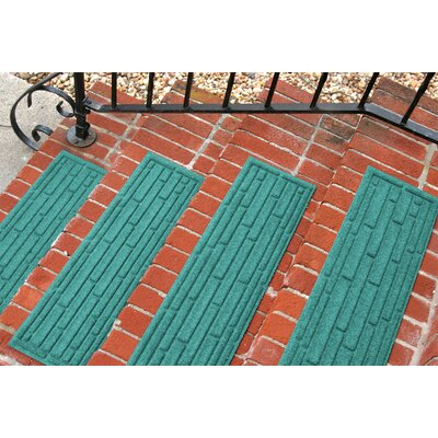 Amald Broken Brick Stair Tread Color: Aquamarine