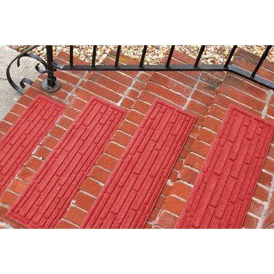Amald Broken Brick Stair Tread Color: Solid Red