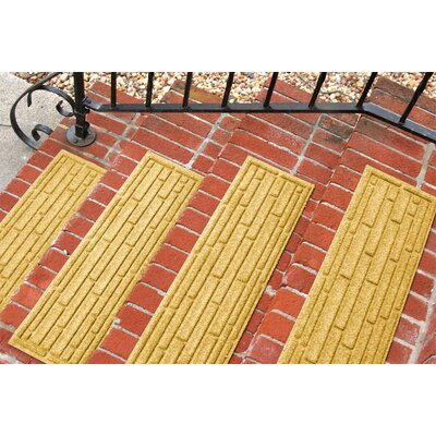 Amald Broken Brick Stair Tread Color: Yellow