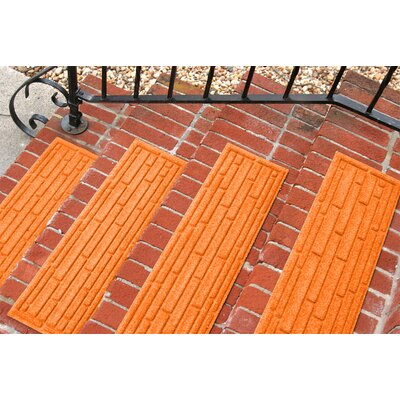 Amald Broken Brick Stair Tread Color: Orange
