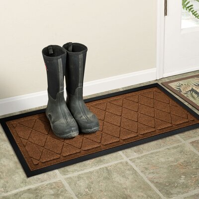 Amald Argyle Boot Tray Color: Dark Brown
