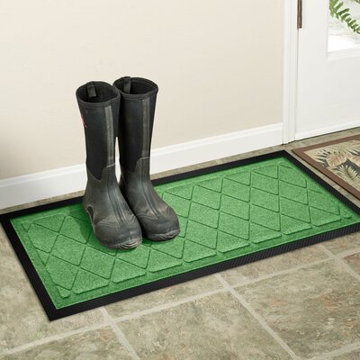 Amald Argyle Boot Tray Color: Light Green