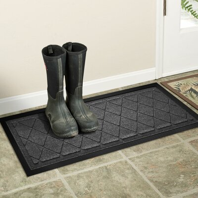 Amald Argyle Boot Tray Color: Charcoal