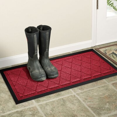 Amald Argyle Boot Tray Color: Red/Black