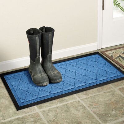 Amald Argyle Boot Tray Color: Medium Blue