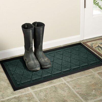Amald Argyle Boot Tray Color: Evergreen