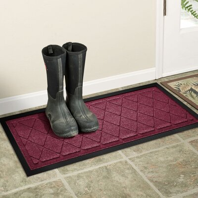 Amald Argyle Boot Tray Color: Bordeaux