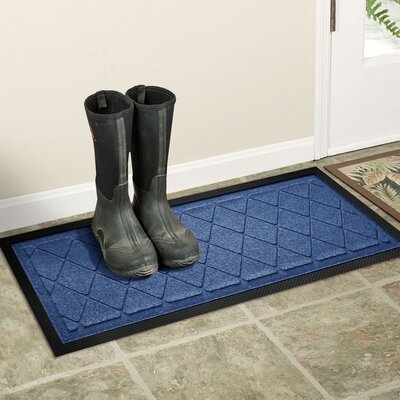 Amald Argyle Boot Tray Color: Navy