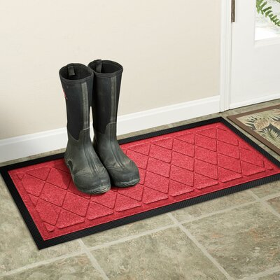 Amald Argyle Boot Tray Color: Solid Red