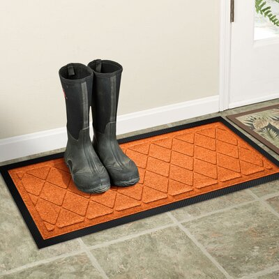 Amald Argyle Boot Tray Color: Orange