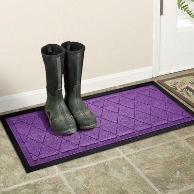 Amald Argyle Boot Tray Color: Purple