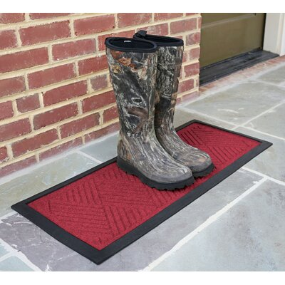 Amald Diamond Boot Tray Color: Red/Black