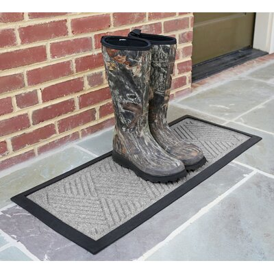 Amald Diamond Boot Tray Color: Medium Gray