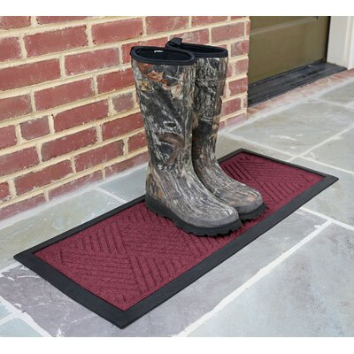 Amald Diamond Boot Tray Color: Bordeaux