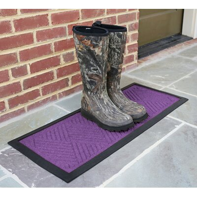Amald Diamond Boot Tray Color: Purple