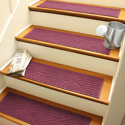 Amald Diamond Stair Tread Color: Bordeaux