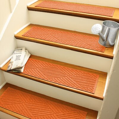 Amald Diamond Stair Tread Color: Orange