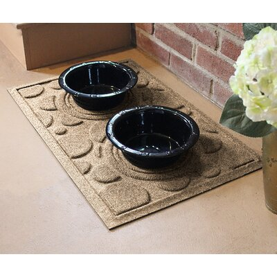 Amald Dog Bowl Dot Doormat Color: Camel