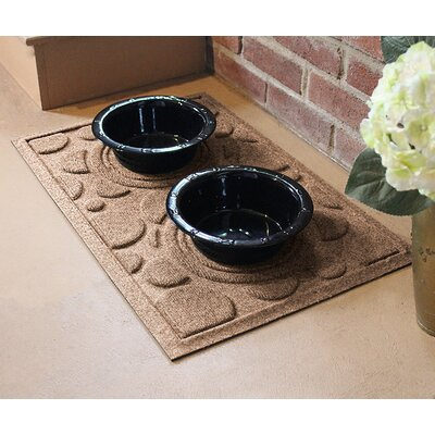 Amald Dog Bowl Dot Doormat Color: Medium Brown