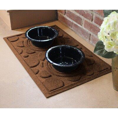 Amald Dog Bowl Dot Doormat Color: Dark Brown