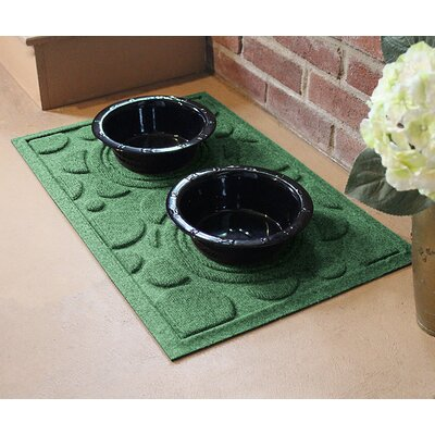 Amald Dog Bowl Dot Doormat Color: Light Green