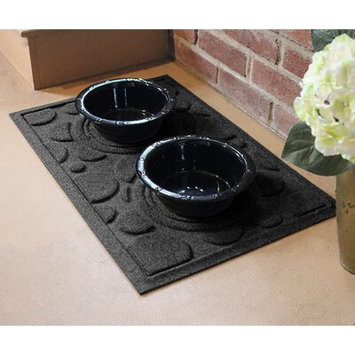 Amald Dog Bowl Dot Doormat Color: Charcoal