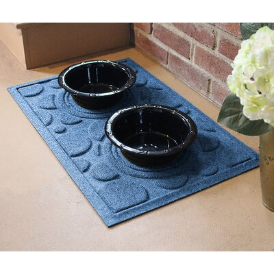 Amald Dog Bowl Dot Doormat Color: Medium Blue