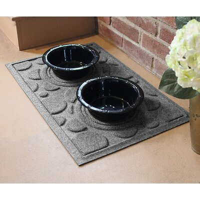 Amald Dog Bowl Dot Doormat Color: Medium Gray