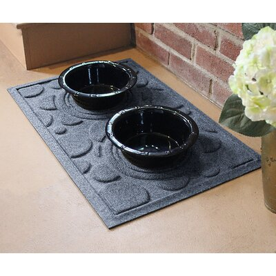 Amald Dog Bowl Dot Doormat Color: Bluestone